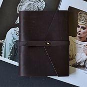 Канцелярские товары handmade. Livemaster - original item Leather notebook A5 rings / Notepad genuine leather belt. Handmade.