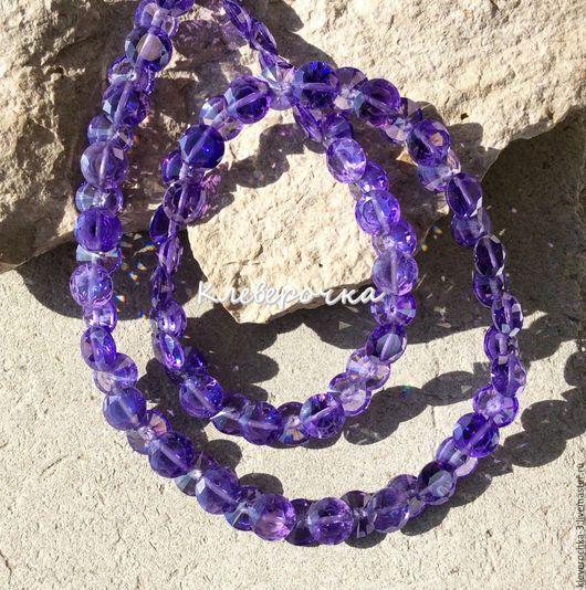 Для украшений ручной работы. Ярмарка Мастеров - ручная работа. Купить Циркон 7 мм фиолетовый луковка конус бусины огранка камни. Handmade.