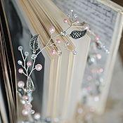 Свадебный салон ручной работы. Ярмарка Мастеров - ручная работа Венок-ободок для свадебной или вечерней прически с розовым жемчугом. Handmade.