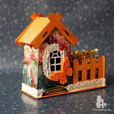 Для дома и интерьера ручной работы. Ярмарка Мастеров - ручная работа Чайный домик «Оранжевое настроение». Handmade.