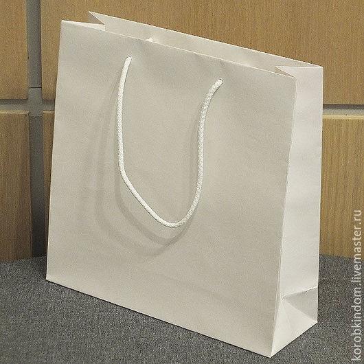 Упаковка ручной работы. Ярмарка Мастеров - ручная работа. Купить 25х25х6 - пакет бумажный белый с ручками веревочными. Handmade. Пакет