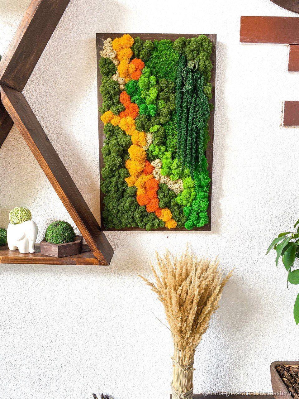 Панно на стену из мха, Элементы интерьера, Липецк,  Фото №1