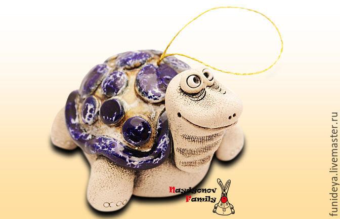 Bells handmade. Livemaster - handmade. Buy Turtle Cinezone, ceramic bell.Turtle, buy turtle, the tortoise gift