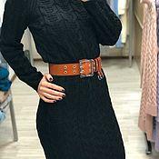 Платья ручной работы. Ярмарка Мастеров - ручная работа Чёрное вязаное платье. Handmade.