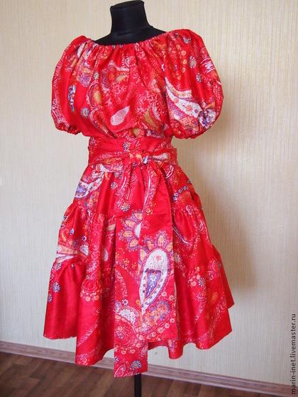 """Платья ручной работы. Ярмарка Мастеров - ручная работа Платье """"Пламенный цветок"""". Handmade."""