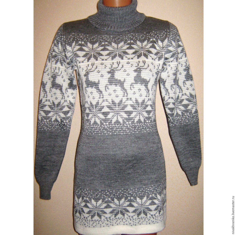 Кофты и свитера ручной работы. Ярмарка Мастеров - ручная работа. Купить  Платье-свитер ... 925bf13cb9b