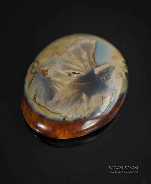Для украшений ручной работы. Ярмарка Мастеров - ручная работа. Купить Фарфоровый кабошон с кристаллической глазурью - 68. Handmade.