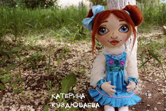 Коллекционные куклы ручной работы. Ярмарка Мастеров - ручная работа. Купить Василиса. Handmade. Голубой, кукла интерьерная, фатин мягкий