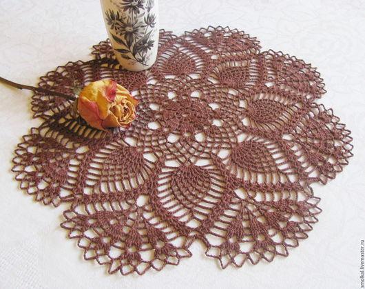 Текстиль, ковры ручной работы. Ярмарка Мастеров - ручная работа. Купить Салфетка 10. Handmade. Коричневый, Салфетка вязаная