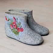 """Обувь ручной работы. Ярмарка Мастеров - ручная работа Валяные  чуни """"Нежный  букетик"""". Handmade."""