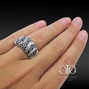 Украшения handmade. Livemaster - original item Ring with sapphires. 925 sterling silver. Handmade.