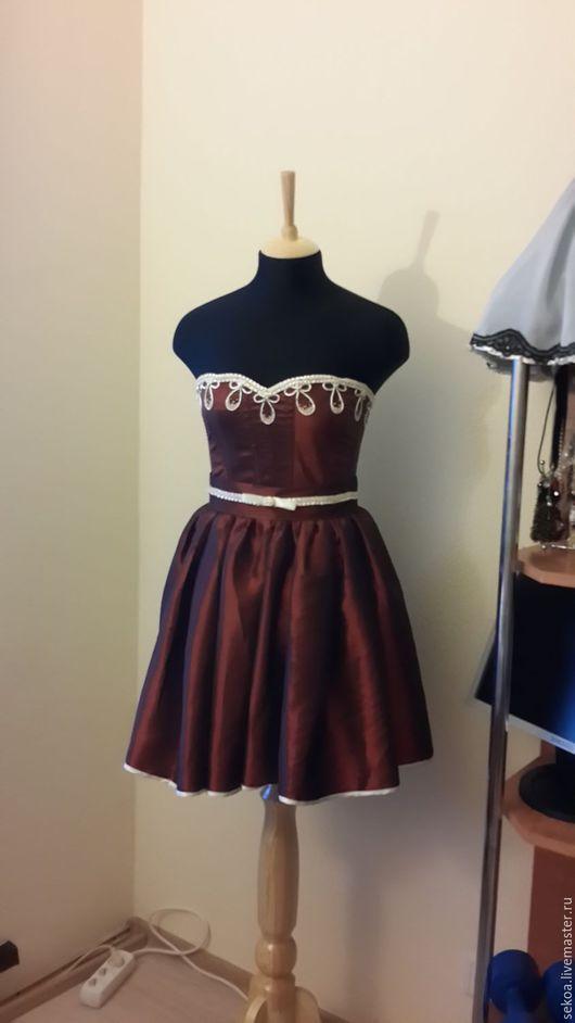 Платья ручной работы. Ярмарка Мастеров - ручная работа. Купить Платье вечернее коктейльное нарядное красивое корсет с юбкой. Handmade.