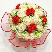 """Свадебные букеты ручной работы. Ярмарка Мастеров - ручная работа Букет невесты """"Каролина"""". Handmade."""