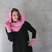 Аксессуары handmade. Livemaster - original item Knitted snacks and mitts Pink dreams. Handmade.