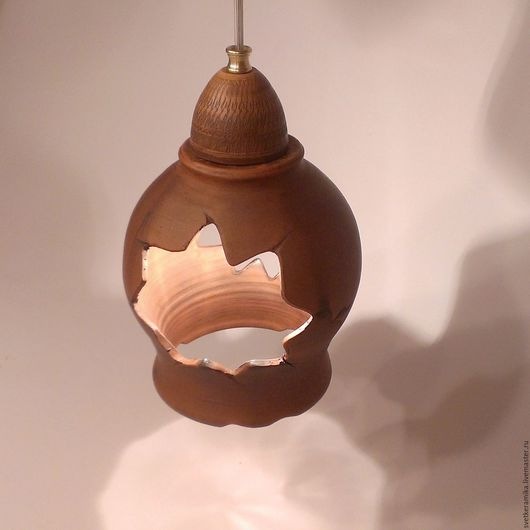 Освещение ручной работы. Ярмарка Мастеров - ручная работа. Купить Керамический светильник «Волшебный фонарь». Handmade. Гончарная глина