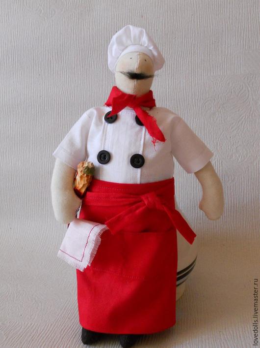 Куклы Тильды ручной работы. Ярмарка Мастеров - ручная работа. Купить Тильда повар. Handmade. Интерьерная кукла, кухня