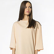 Одежда handmade. Livemaster - original item Wool dress with cashmere peach (Ref. 2166). Handmade.