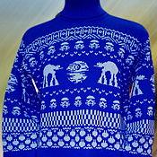 Одежда ручной работы. Ярмарка Мастеров - ручная работа Тату-свитер - Звезда Смерти (Звёздные войны), василёк. Handmade.