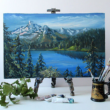 Pictures and panels handmade. Livemaster - original item Mountain landscape