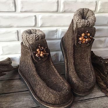 Обувь ручной работы. Ярмарка Мастеров - ручная работа Валеши Халва с манжетами. Handmade.