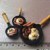 Куклы и игрушки handmade. Livemaster - original item Dollhouse food. Breakfast. Miniature handmade. Handmade.