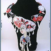 Украшения ручной работы. Ярмарка Мастеров - ручная работа Колье Зимушка Зима. Handmade.