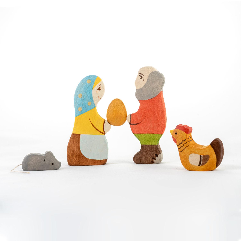 Сказка Курочка Ряба. Деревянные игрушки. Развивающие игрушки, Сказочные персонажи, Смоленск, Фото №1
