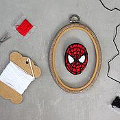 Украшения handmade. Livemaster - original item Embroidered brooch Spider-Man. Handmade.