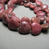 Материалы для творчества handmade. Livemaster - original item Rhodonite heart bead 9 mm. Handmade.