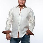 Рубашки ручной работы. Ярмарка Мастеров - ручная работа Рубашки: Рубашка льняная мужская. Handmade.