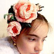 """Свадебный салон ручной работы. Ярмарка Мастеров - ручная работа Роза """"Antoinette"""" из шелковых японских тканей.. Handmade."""