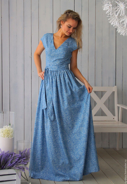 Платье летнее в пол вечернее