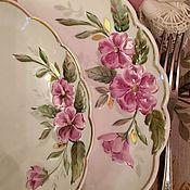 Посуда handmade. Livemaster - original item Painted porcelain. Set of plates
