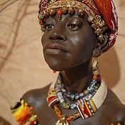 """Куклы и игрушки ручной работы. Ярмарка Мастеров - ручная работа Бюст""""Африка"""". Handmade."""
