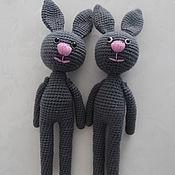 Куклы и игрушки ручной работы. Ярмарка Мастеров - ручная работа Зайцы с длинным телом. Handmade.
