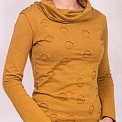 Одежда ручной работы. Ярмарка Мастеров - ручная работа Водолазка из хлопка в горох. Handmade.
