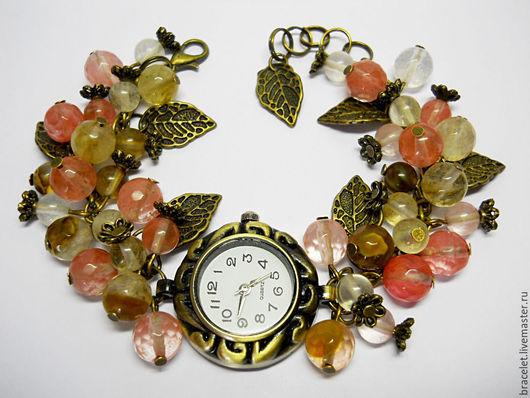 """Часы ручной работы. Ярмарка Мастеров - ручная работа. Купить Часы наручные женские """"Лесной аромат"""".. Handmade. Часы"""