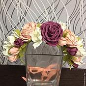 Цветы и флористика ручной работы. Ярмарка Мастеров - ручная работа Венок с розами. Handmade.