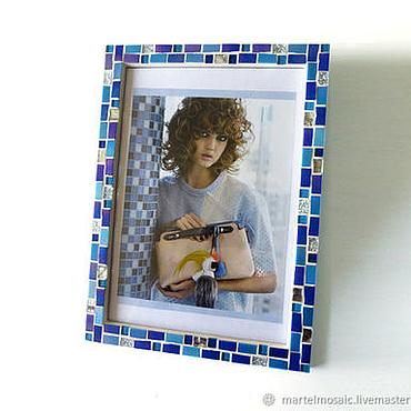 Сувениры и подарки ручной работы. Ярмарка Мастеров - ручная работа Рамка для фотографии 21x30 голубая. Handmade.
