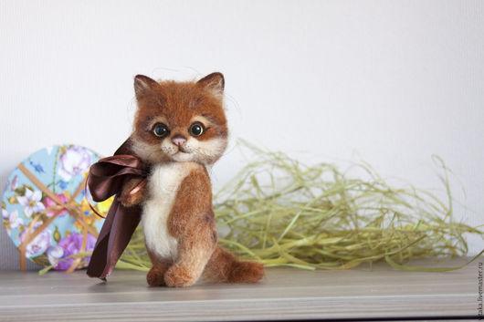 Игрушки животные, ручной работы. Ярмарка Мастеров - ручная работа. Купить Котик. Валяный котенок Солнышко.. Handmade. Рыжий