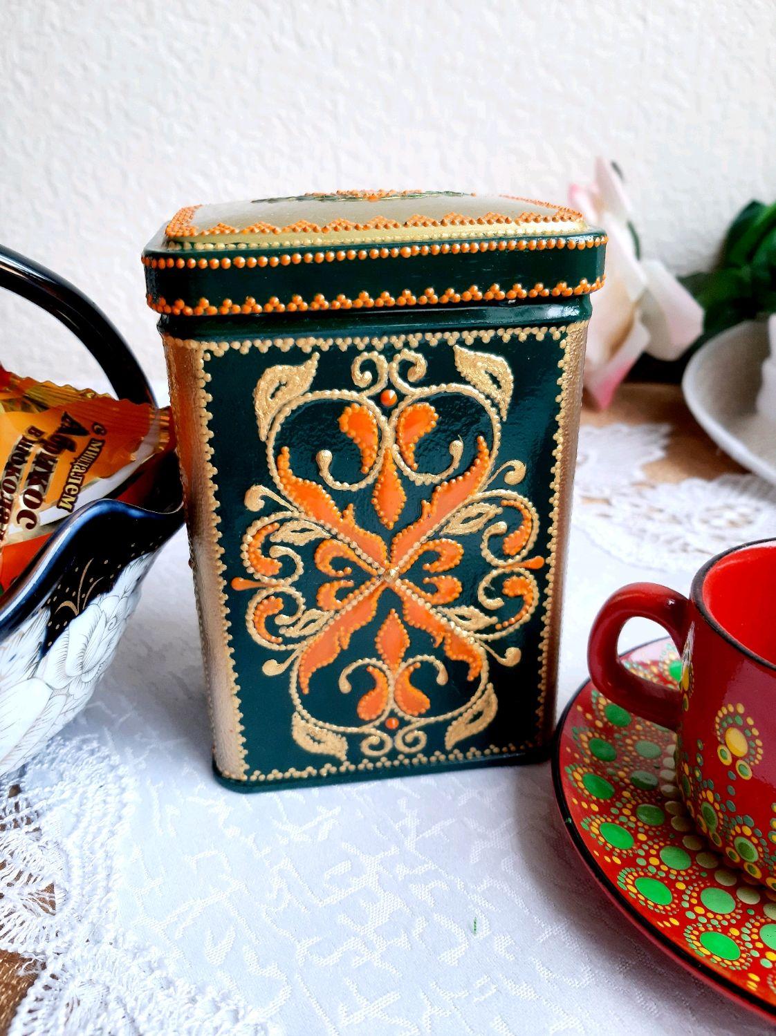 Баночка металлическая для хранения чая ВАЛЕНСИЯ, Банки, Волгодонск,  Фото №1