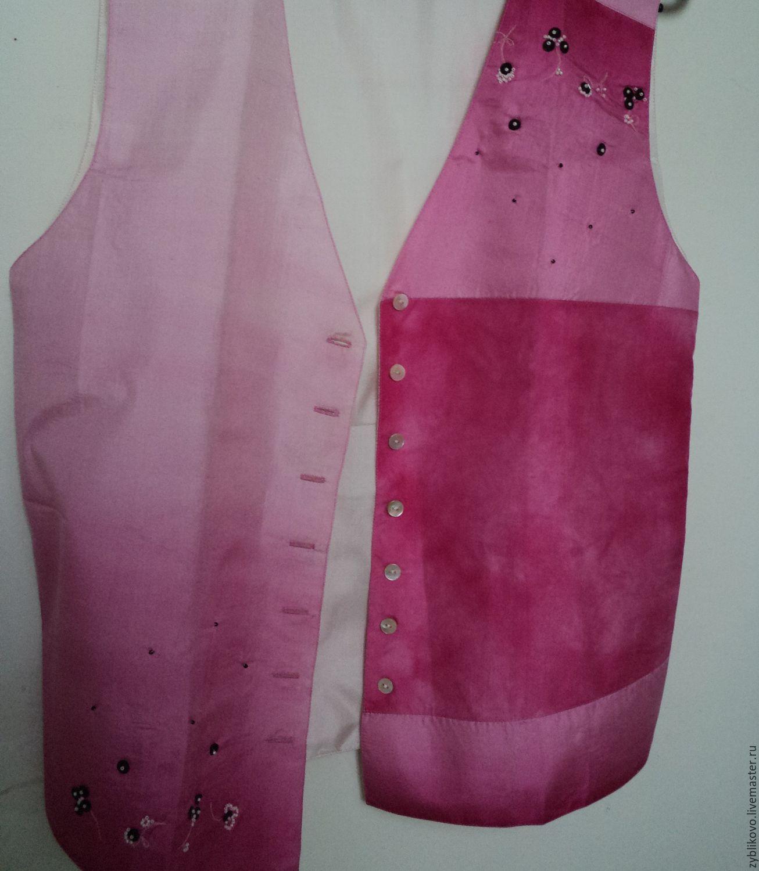 Silk waistcoat with embroidery author Tatiana Agafonova