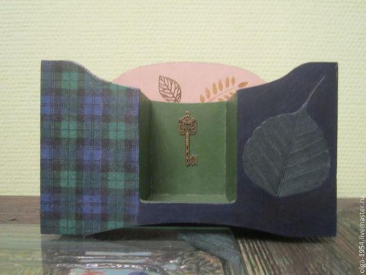 """Карандашницы ручной работы. Ярмарка Мастеров - ручная работа. Купить Карандашница """"Синяя шотландка"""". Handmade. Тёмно-синий, ключ, офис"""