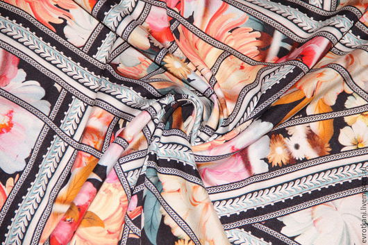 Шитье ручной работы. Ярмарка Мастеров - ручная работа. Купить Шелк стрейч Roberto Cavalli 2015-16. Handmade. Коллекция