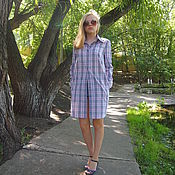 Одежда ручной работы. Ярмарка Мастеров - ручная работа Рубашка-платье. Handmade.