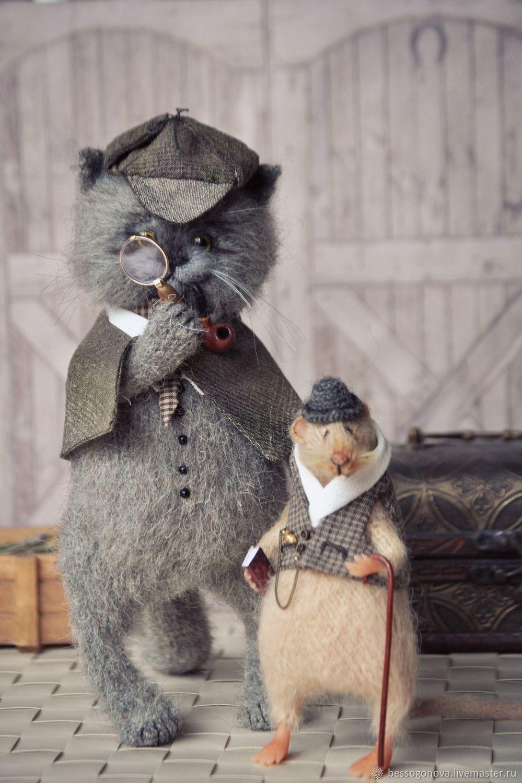 Sherlock the cat, and Dr. Batsrus, Stuffed Toys, Severodvinsk,  Фото №1