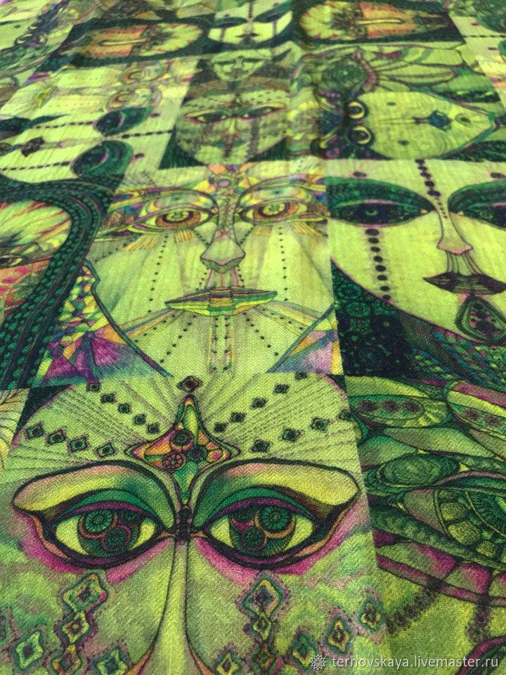 """Палантин """"Другая реальность"""" зеленый травянистый цвет, Палантины, Москва,  Фото №1"""