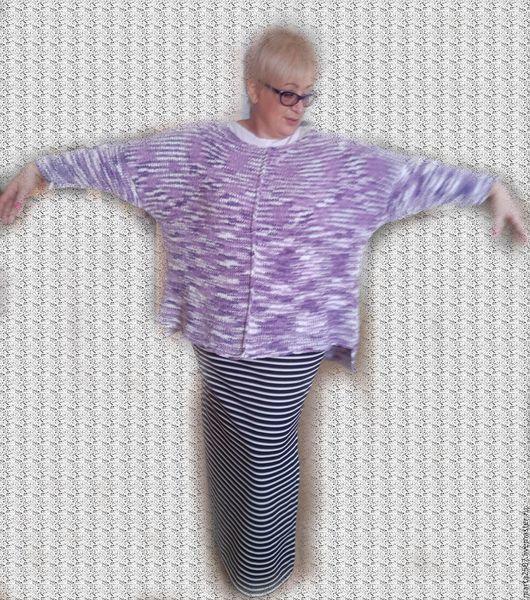 Кофты и свитера ручной работы. Ярмарка Мастеров - ручная работа. Купить Туника аметистовая. Handmade. Комбинированный, авторская работа, oversize