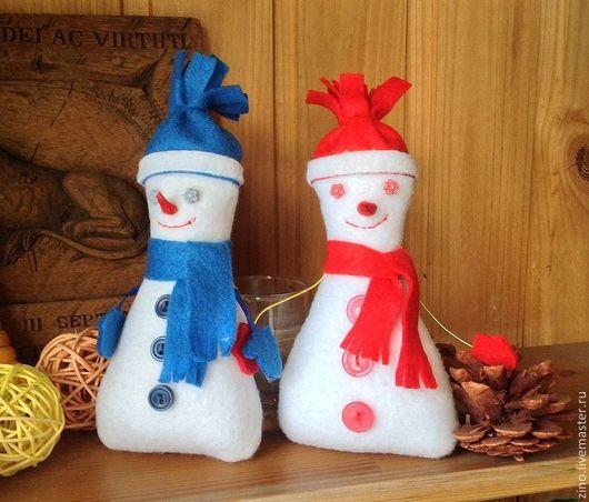 Новый год 2017 ручной работы. Ярмарка Мастеров - ручная работа. Купить Снеговичок. Handmade. Белый, игрушка ручной работы, подарок