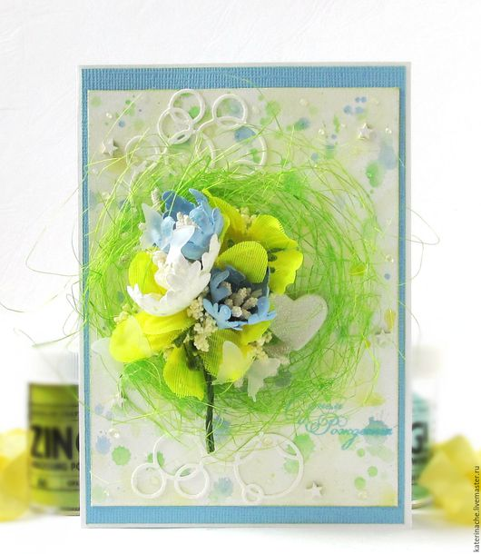 Открытки на день рождения ручной работы. Ярмарка Мастеров - ручная работа. Купить Открытка акварельная с цветами. Handmade.